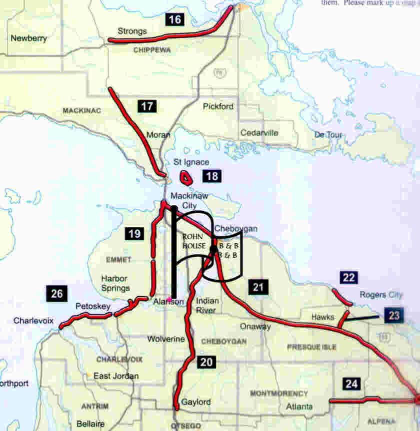 Bike Michigan Maps Michigan Trail Map amp Directory